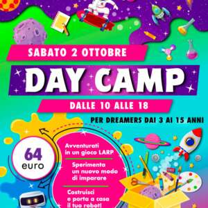 day camp 2 ottobre locandina