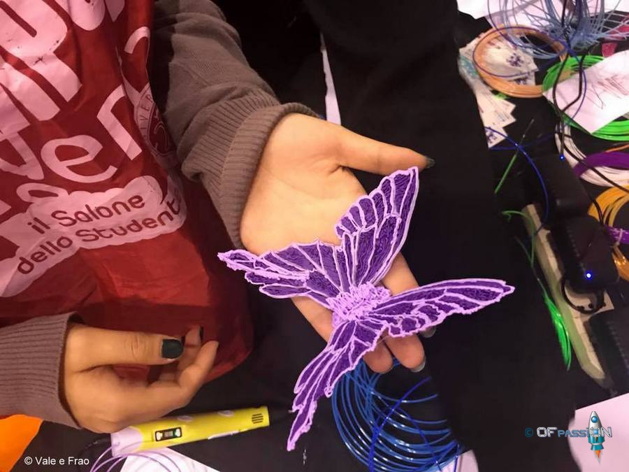 creazioni con penna 3d ofpassion laboratorio al salone dello studente di roma