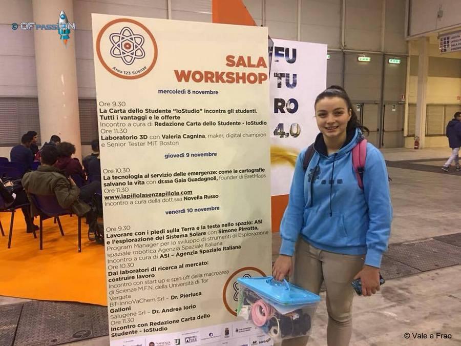 apertura salone dello studente di roma valeria cagnina stand laboratori ofpassion