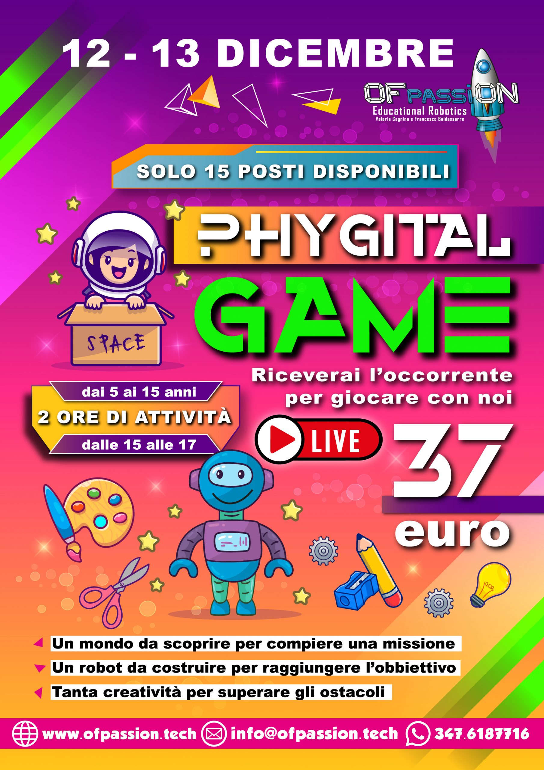 phygital weekend game con valeria cagnina e francesco baldassarre ofpassion