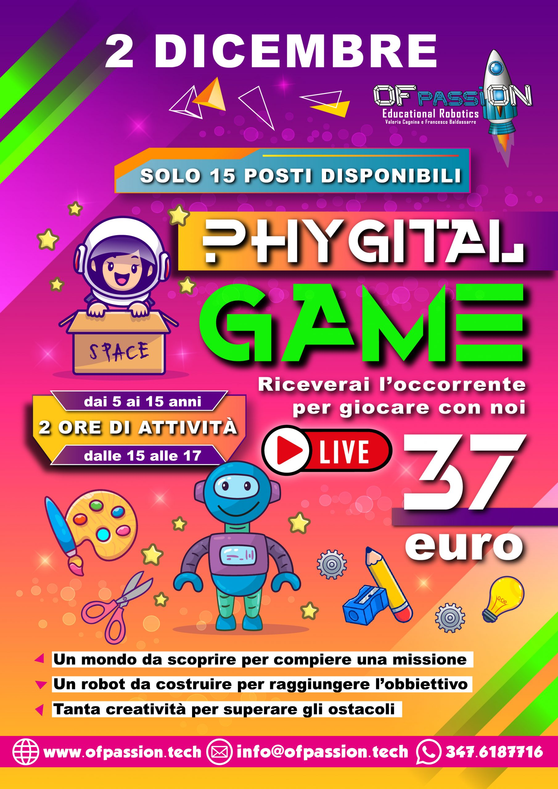 phygital game 2 DICEMBRE