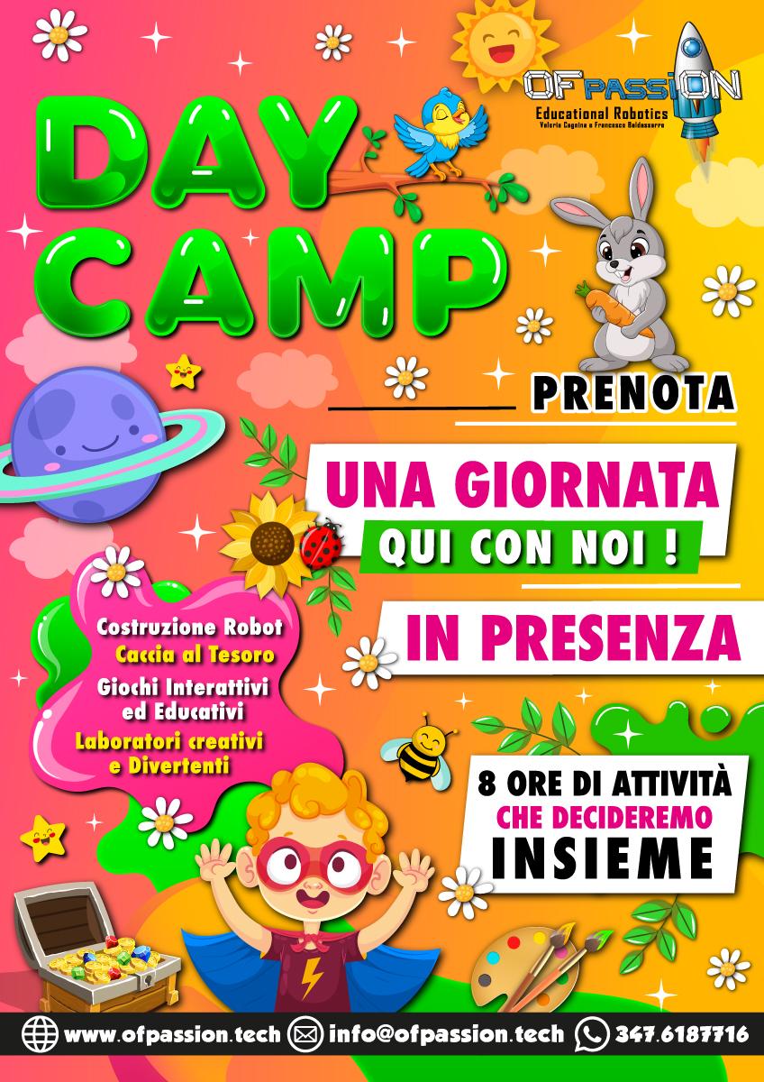 day camp attività in presenza
