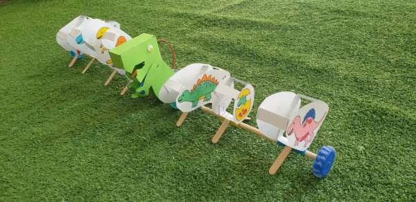 robot day camp dinosauro bambino